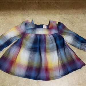 Sz 4T Flowy Plaid Top